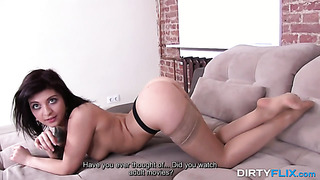 Petite brunette girl fucked by old agent