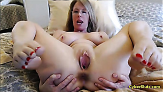 Webcam show from cyberslut performer mature