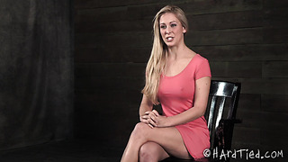 Hardtied Cherie DeVille beautiful blonde in BDSM action