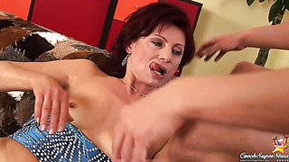 50 years old mom takes facial cum swap after hard fucking