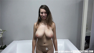 Czech Casting with busty Sandra wanna be a real czech bitch porn